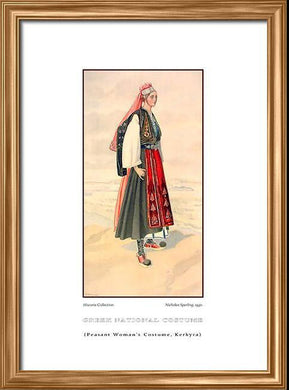 Nicholas Sperling: Greek traditional costume, Peasant woman's costume, Kerkyra