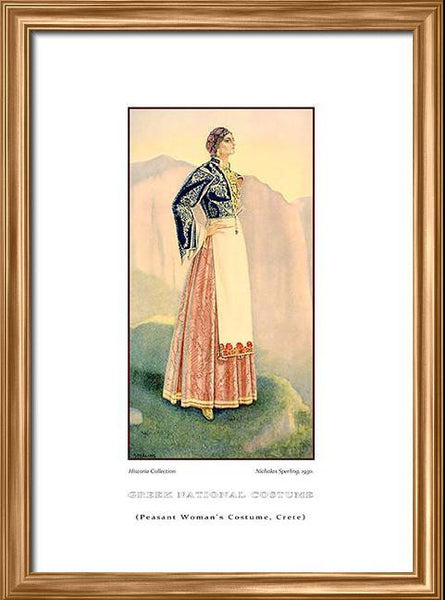 Nicholas Sperling: Greek traditional costume, Peasant woman's costume, Crete