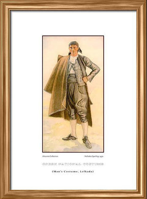 Nicholas Sperling: Greek traditional costume, Man's costume, Lefkada