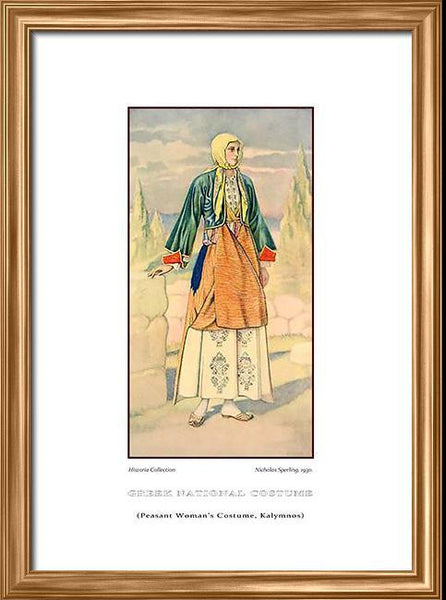 Nicholas Sperling: Greek traditional costume, Peasant woman's costume, Kalymnos