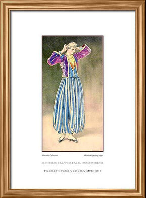 Nicholas Sperling: Greek traditional costume, Woman's town costume, Mytilini