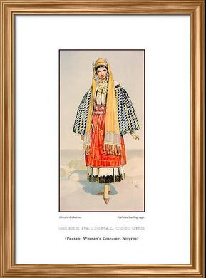 Nicholas Sperling: Greek traditional costume, Peasant woman's costume, Nisyros