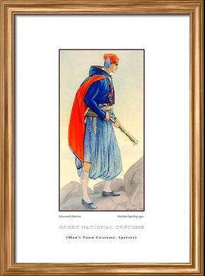 Nicholas Sperling: Greek traditional costume, Man's town costume, Spetses