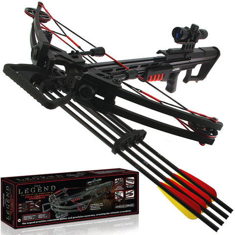175lb Black Compound 'LEGEND' Preppers Crossbow