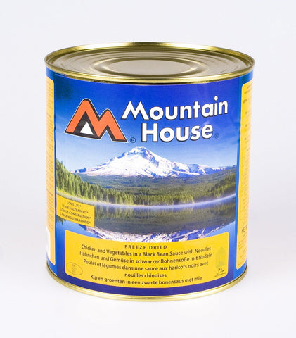 Mountain House Chicken Black Bean with Noodles Freeze Dried Tins