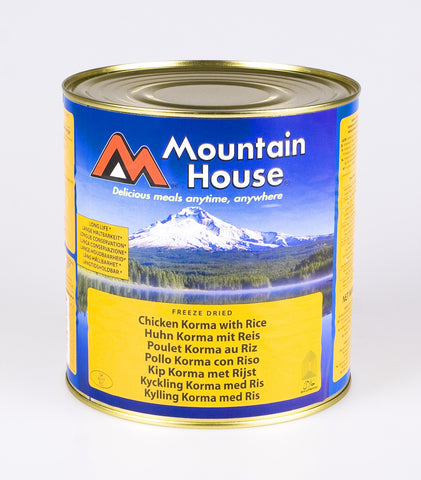 Mountain House Chicken Korma and Rice Freeze Dried Tins