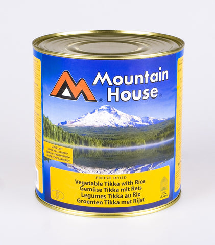 Mountain House Vegetable Tikka and Rice Freeze Dried Tins