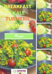 Breakfast Kale Turmeric Scramble Recipe