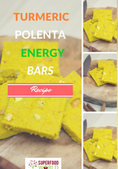 Turmeric Polenta Energy Bars Recipe