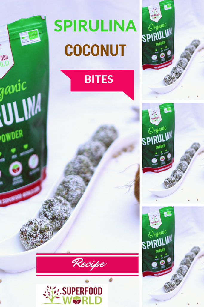 Spirulina Coconut Bites Recipe