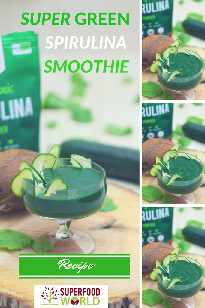 Super Green Spirulina Smoothie Recipe
