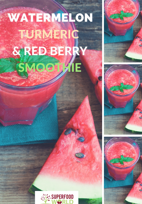 Watermelon, Turmeric and Red Berry Detox Smoothie