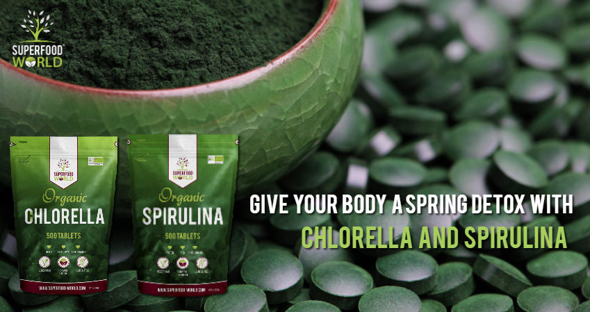 Give Your Body a Spring Detox with Chlorella and Spirulina