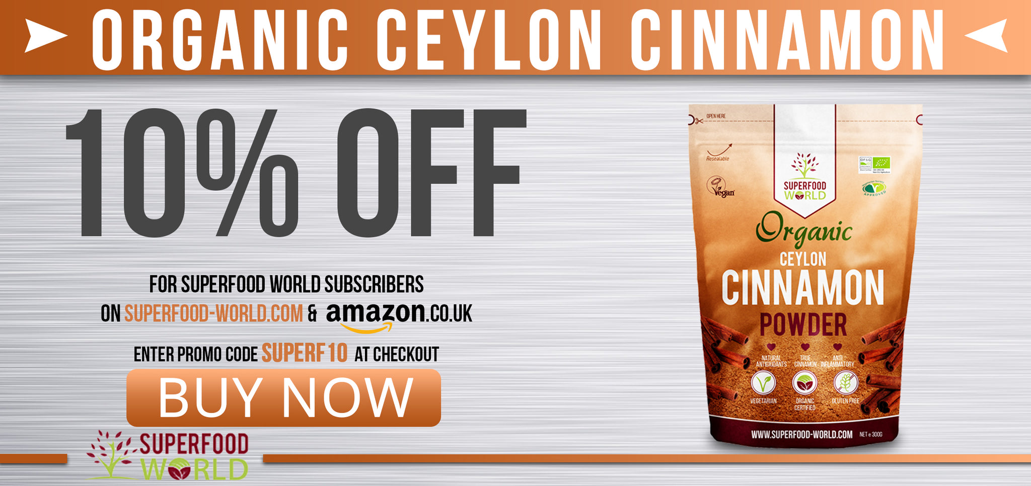 Buy organic Ceylon cinnamon powder