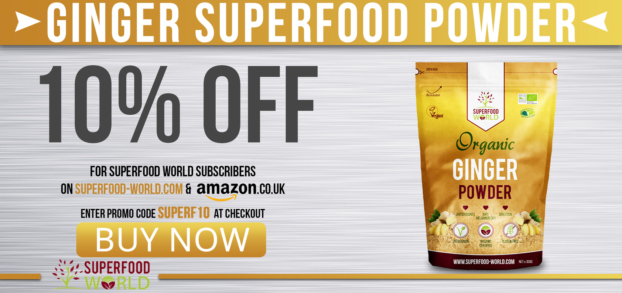 Buy Ginger Powder from Superfood World Today!
