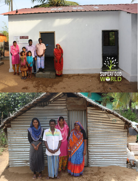 Before and after Superfood World House - 25% Profits Donation Charity pledge - social entrepreneurship - social enterprise