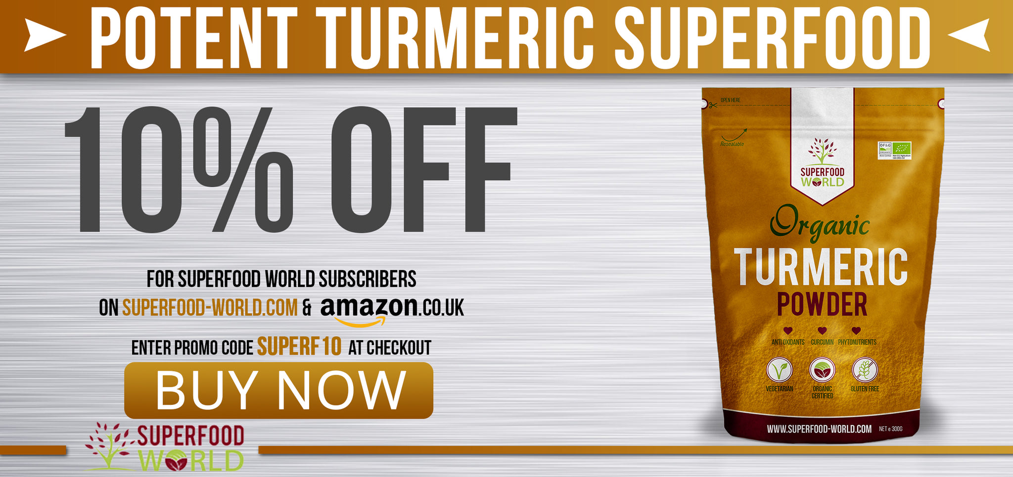 Buy Turmeric Powder from Superfood World