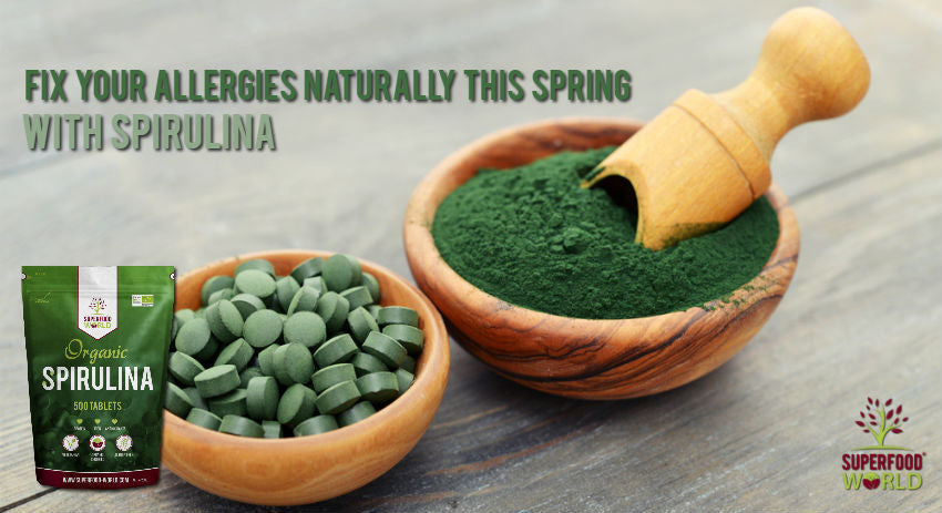 Fix Allergies Naturally this Spring with Superfood Spirulina - Superfood World