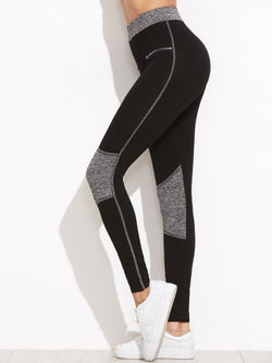 Black Color Leggings with Zipper printed Details