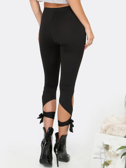 Lace up Capri Leggings