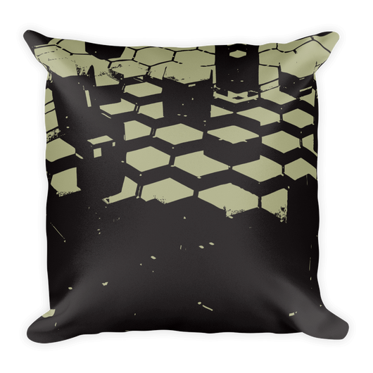 Dark Hexagonal  Decor Pillow