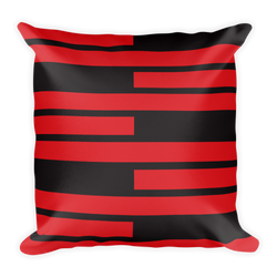 Red and Black Decor Pillow