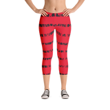 Capri Leggings- Red and Black stripes spikes
