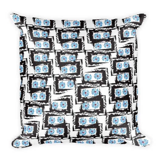 Blue Daisies Pillow