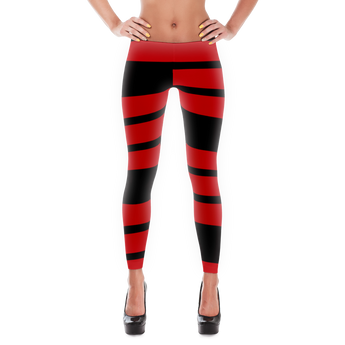 Red and Black stripe Leggings