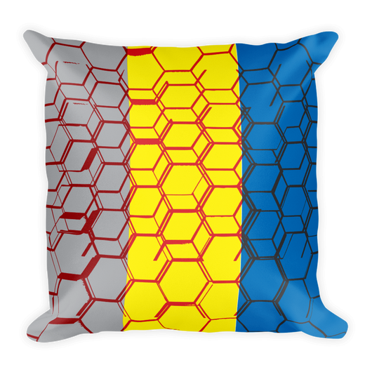 Three color Hexagonal decor Pillow