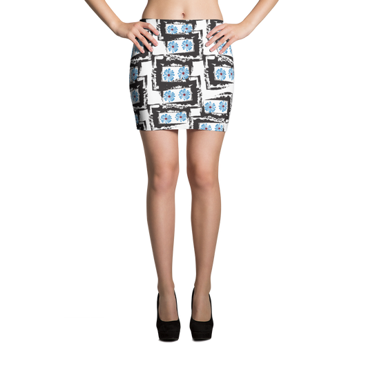 Blue Daisies Mini Skirt