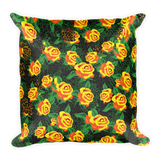 Yellow Roses Decor Pillow