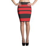 Black and Red Pencil Skirts
