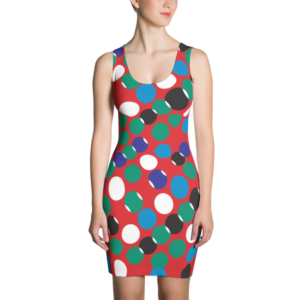 A Red Dotted pattern Dress
