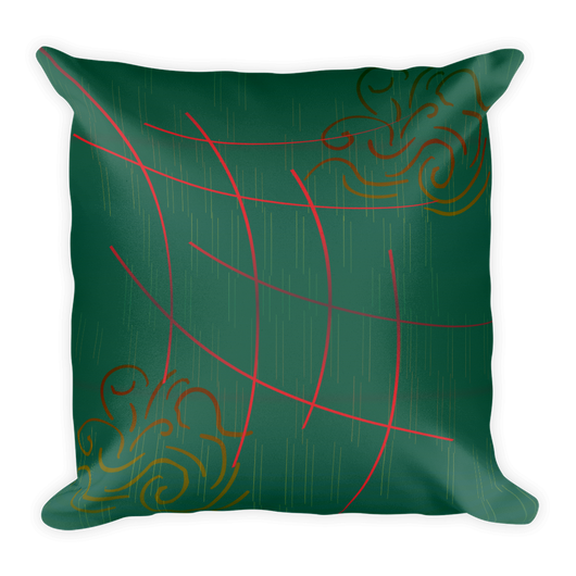 Hatch Lines Decor Pillow