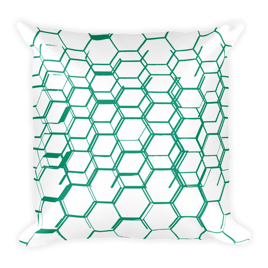Green Hexagonals decor Pillow