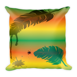 Colored Feather Decor Pillow