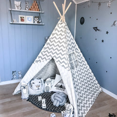 grey teepee tent for kids