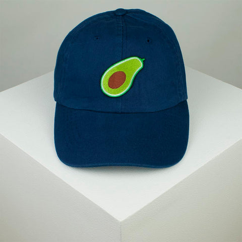 Avocado Embroidered Baseball Cap - Navy by Hatty Hats Embroidery - Website Product (blog) Image 1