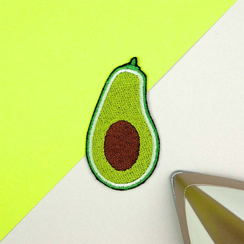 Avocado Iron on / Sew on Embroidered Patch by Hatty Hats Embroidery - New Products Blog Image