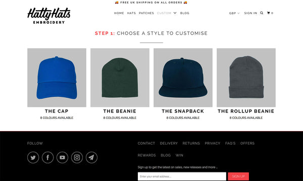 3ebbefea0 How to Order Custom Embroidered Hats: The Simple Guide - Hatty Hats ...