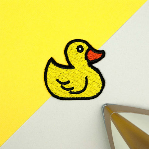 Rubber Duck Iron on / Sew on Embroidered Patch by Hatty Hats Embroidery - New Products Blog Image