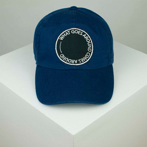 What Goes... Embroidered Baseball Cap - Navy by Hatty Hats Embroidery - Website Product (blog) Image 1