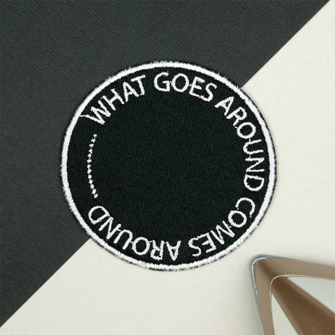 What Goes... Iron on / Sew on Embroidered Patch by Hatty Hats Embroidery - New Products Blog Image