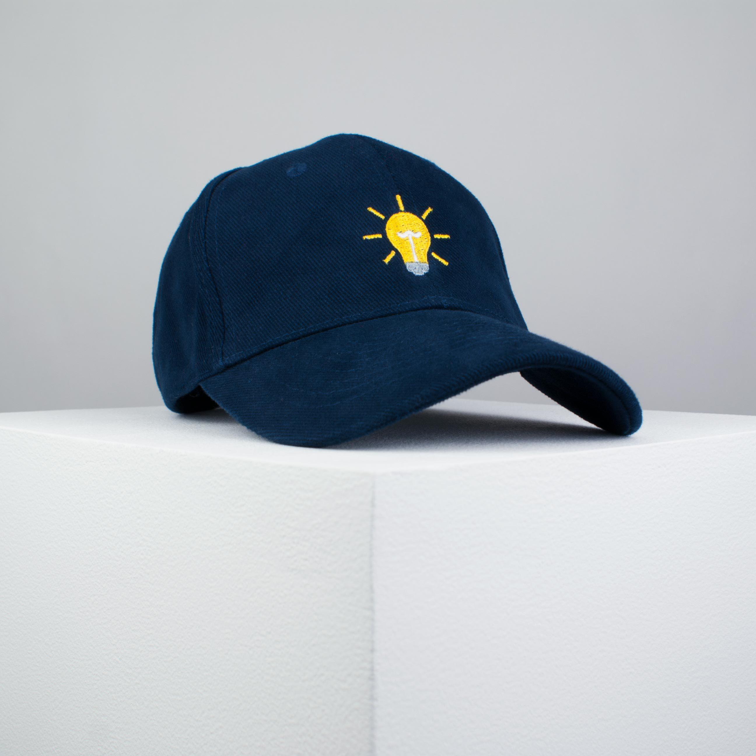 408aeef2a3 Light bulb embroidered baseball cap navy   light   patches   feminist    embroidery   patch ...