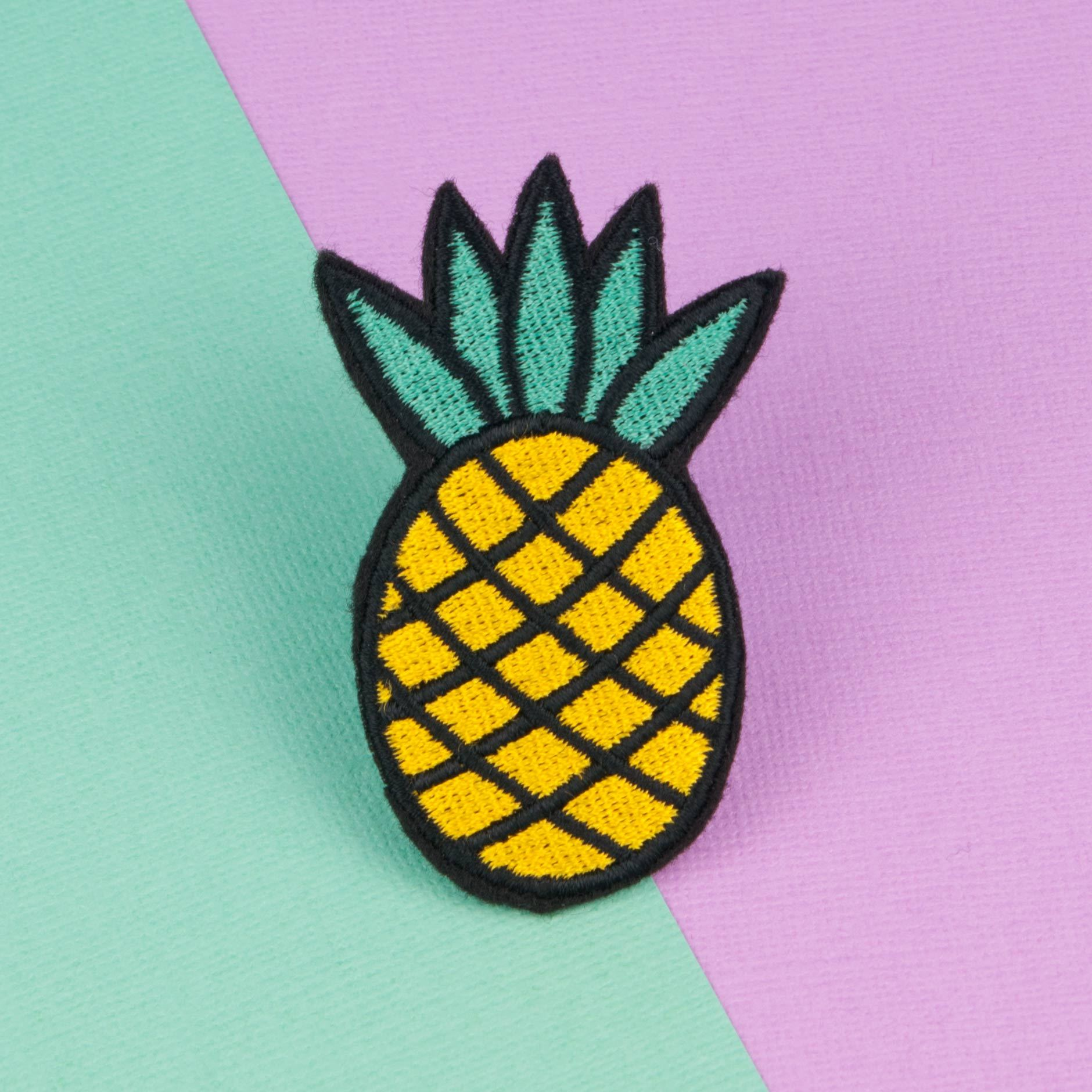 Pineapple Iron On Patch Hatty Hats Embroidery
