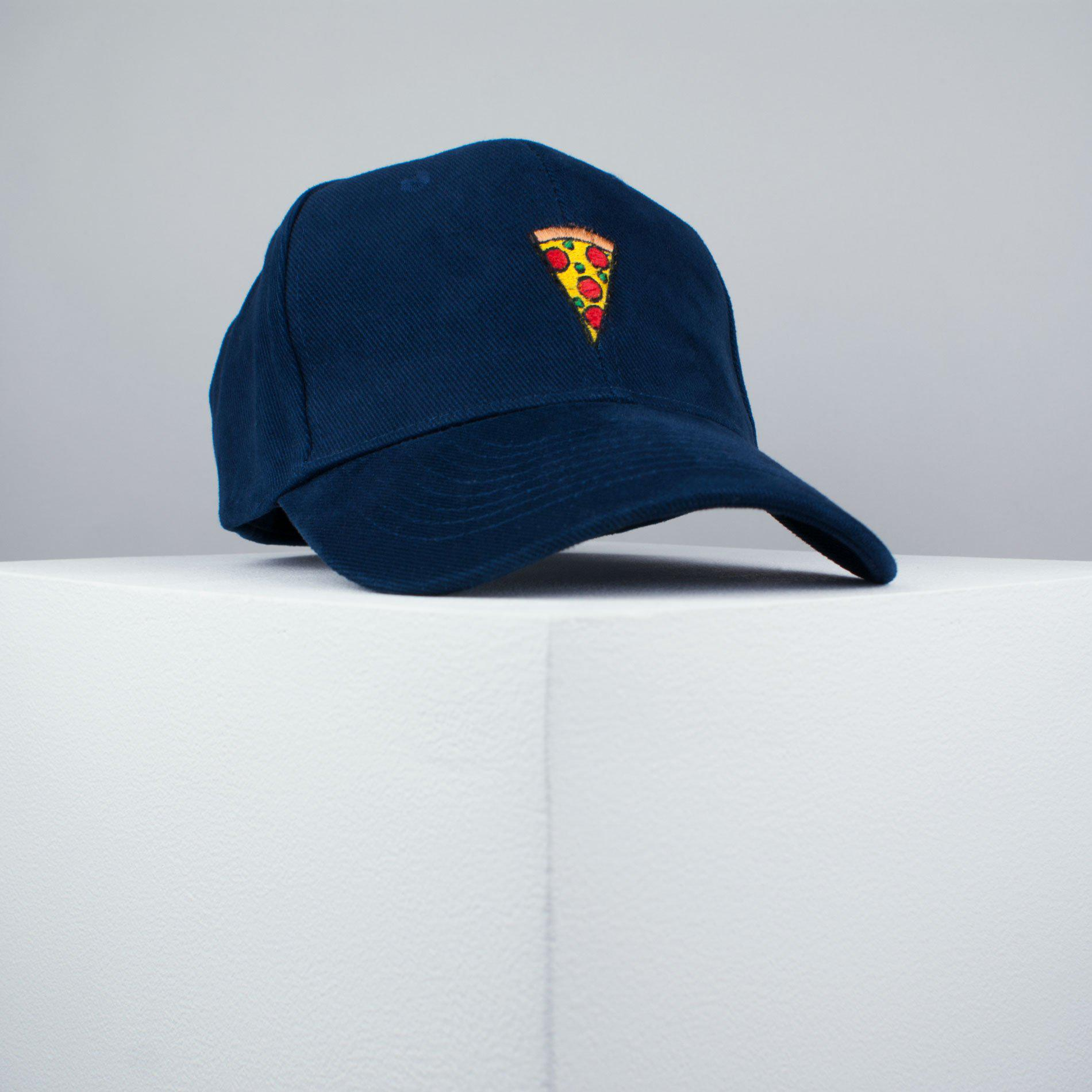 Pizza slice embroidered baseball cap navy   pizza   patches   food    embroidery   patch ... 28f5531efa0