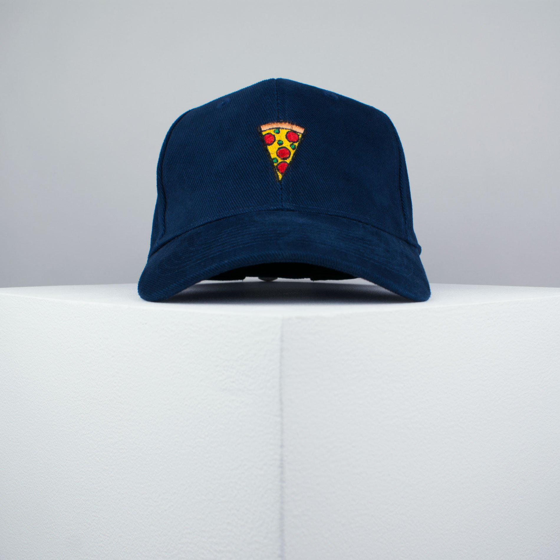 8a8fbec0e88 ... Pizza slice embroidered baseball cap navy   pizza   patches   food    embroidery   patch ...