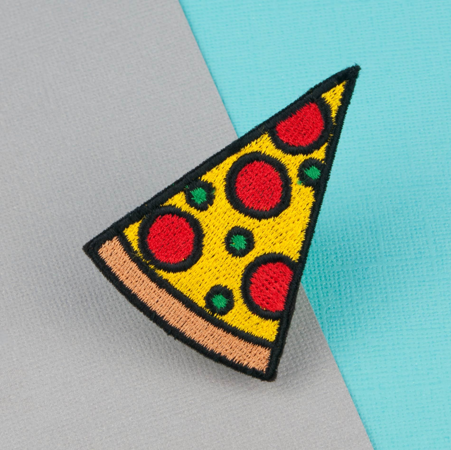 2e92d75bd48 Pizza slice iron on patch pizza patches food embroidery patch enamel pin embroidered  patch back patch