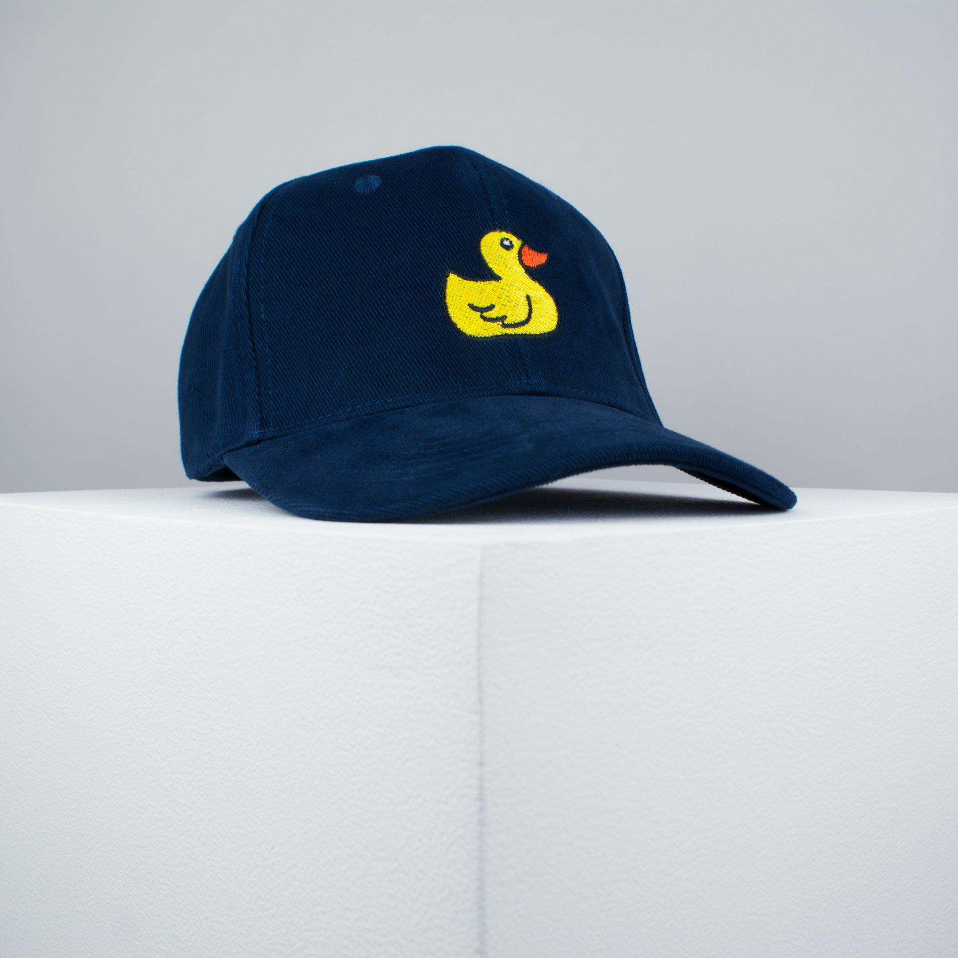 95c3c833e09 Rubber duck embroidered baseball cap navy   animal   patches   duck    embroidery   patch ...